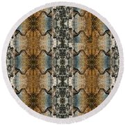 Tornado Pattern Round Beach Towel