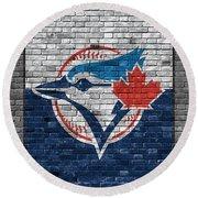Toronto Blue Jays Brick Wall Round Beach Towel