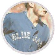 Toronto Blue Jays Josh Donaldson 4 Round Beach Towel