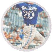 Toronto Blue Jays Josh Donaldson Round Beach Towel