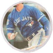 Toronto Blue Jays Troy Tulowitzki Round Beach Towel