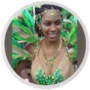 Toronto Caribean Festival Round Beach Towel