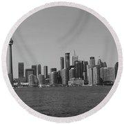 Toronto Cistyscape Bw Round Beach Towel