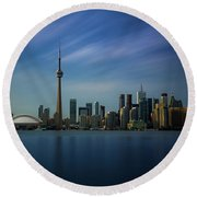 Toronto Cityscape Round Beach Towel