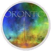 Toronto - Cityscape Round Beach Towel