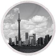 Toronto Skyline 11 Round Beach Towel