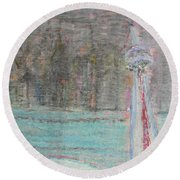 Toronto The Confused Round Beach Towel