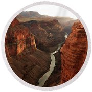 Toroweap In Grand Canyon Round Beach Towel