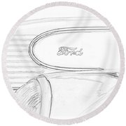 Torpedo Ford Round Beach Towel