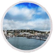 Round Beach Towel featuring the photograph Torquay Devon by Scott Carruthers