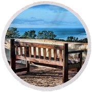 Torrey Pines View Round Beach Towel