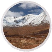Round Beach Towel featuring the photograph Torridon Panorama by Grant Glendinning