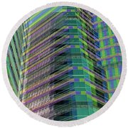 Abstract Angles Round Beach Towel