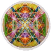 Torusphere Synthesis Bright Beginning Soulin I Round Beach Towel