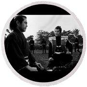 Toshiro Mifune Band Of Assassins Round Beach Towel