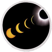Total Eclipse Sequence, Aruba, 2/28/1998 Round Beach Towel