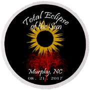 Total Eclipse T-shirt Art Murphy Nc Round Beach Towel