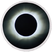 Total Solar Eclipse - Aruba 1998 Round Beach Towel