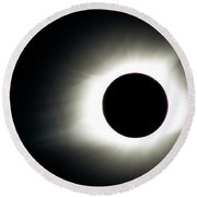 Totality And Mercury Round Beach Towel