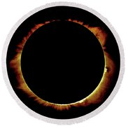 Totality Over Processed Round Beach Towel