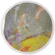 Totally Abstract 1 Round Beach Towel