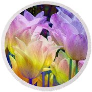 Totally Tulips Two Round Beach Towel
