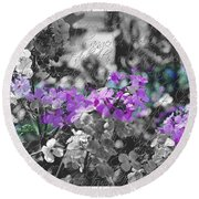 Touch Of Phlox Round Beach Towel