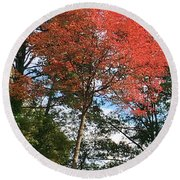 Touch Of Red Round Beach Towel
