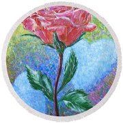 Touched By A Rose Round Beach Towel