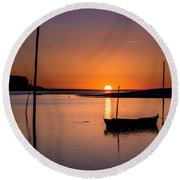 Touched By The Sun Round Beach Towel by Edgar Laureano