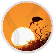 Touching The Sun Round Beach Towel