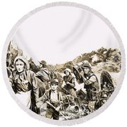 Towards A Promised Land Round Beach Towel