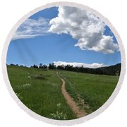 Towards The Sky Round Beach Towel