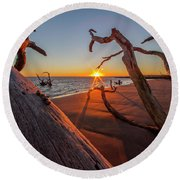 Towards The Sun Round Beach Towel