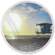 Tower 34 Round Beach Towel