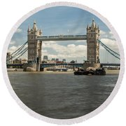 Tower Bridge A Round Beach Towel