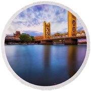Tower Bridge Sacramento 3 Round Beach Towel
