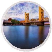 Tower Bridge Sacramento 3 Round Beach Towel