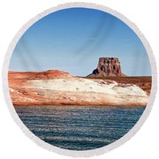 Tower Butte Round Beach Towel