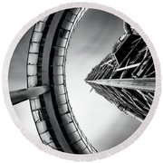 Round Beach Towel featuring the photograph Tower by Jorge Maia