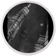 Tower Nights Round Beach Towel