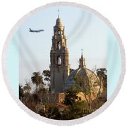 Tower Of Casa De Balboa In Balboa Park In San Diego - 2017 Round Beach Towel