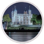 Tower Of London Round Beach Towel by Joana Kruse