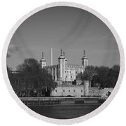 Tower Of London Riverside Round Beach Towel by Gary Eason
