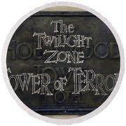 Tower Of Terror Round Beach Towel by David Nicholls
