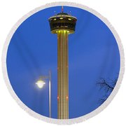 Tower Of The Americas Round Beach Towel