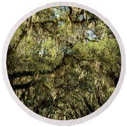 Towering Canopy Round Beach Towel