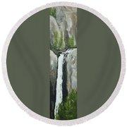 Towering Falls Round Beach Towel