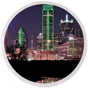 Towering Over Dallas Round Beach Towel by Frozen in Time Fine Art Photography