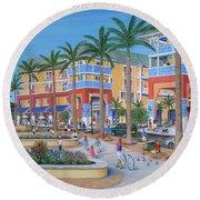 Town Center Abacoa Jupiter Round Beach Towel